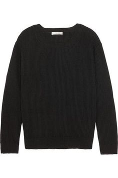 Vince - Tie-back Ribbed Cotton And Cashmere-blend Sweater - Black - x small