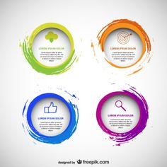 Circular templates pack Free Vector
