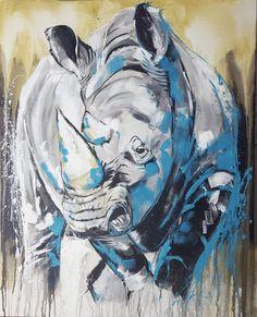 "Kunstdruck Nashorn - Rhino ""One of the big five"" – by Stefanie Rogge"