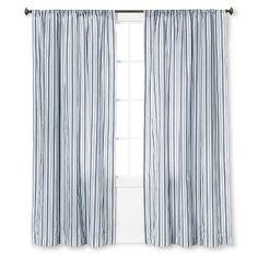 "Urban Stripe Curtain Panel - Navy - 84"" - The Industrial Shop™ : Target"
