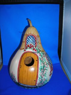 One of a kind hand painted gourd birdhouse. by DianasGourdsnmore, $40.00