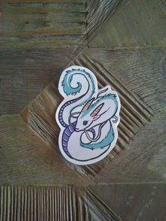 Haku Dragon Sticker - Spirited Away - Miyazaki / Studio Ghibli on Etsy, $1.50