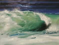 Original Seascape Painting by Samantha Boni Oil On Canvas, Canvas Art, Canvas Size, Ocean Art, Ocean Ocean, Original Paintings, Original Art, Italy Painting, Abstract Expressionism Art