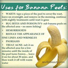 Uses for Banana Peels - not just for creating trip hazards! =o)