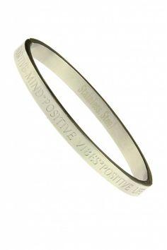 RVS Armband Positive Mind - Zilver - (bracelet) Sazou.nl