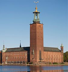 Stockholm City Hall was built in 1923 and has hosted the Nobel banquet ever since.