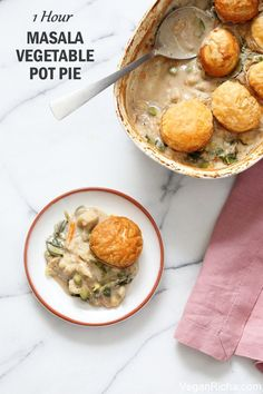 1 Hour Masala Vegetable Pot Pie. This Vegan Pot Pie is amped up with garam masala & spices. Use up seasonal veggies. Vegan Soy-free Recipe Gluten-free option