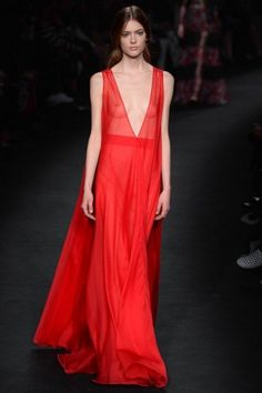 Long dress rosso Valentino