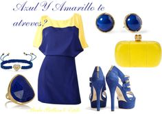 """Azul y Amarillo!!"" by karycaicedo on Polyvore"