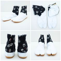 Nikko White Kamon Japonista Sole Jika Tabi Shoes - Japan Lover Me Store  Tabi Shoes ff02a531b
