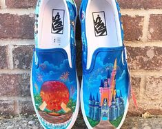 Items similar to Rapunzel and Moana Painted Shoes on Etsy Disney Vans, Painted Shoes, Moana, Rapunzel, Trending Outfits, Unique Jewelry, Handmade Gifts, Etsy, Kid Craft Gifts