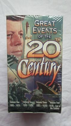 Great Events of the 20th Century 4-tape VHS set from 1999 SEALED! Rare OOP
