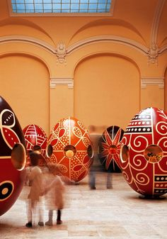 Easter Eggs in Labyrinth Vajdahunyad Castle, Budapest, Hungary