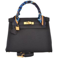 HERMES KELLY BAG 28CM BLACK TOGO GOLD HARDWARE JaneFinds (€18.135) ❤ liked on Polyvore featuring bags, handbags, hermes handbags, hermès, hermes bag and hermes purse