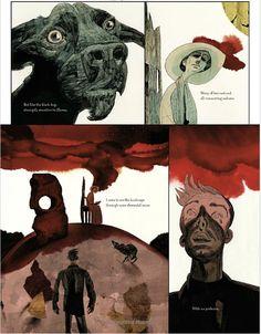 A masterpiece from Dave McKean Comic Book Artists, Comic Artist, Comic Books Art, Dave Mckean, Copic, Graphic Novel Art, Phoenix Art, Comic Kunst, Bd Comics