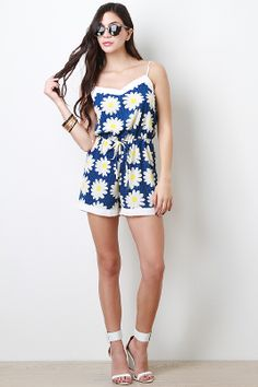 Dainty Daisies Romper- idk but I kinda like this- with some ankle strap heels or wedges maybe?