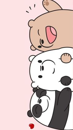 iphone wallpaper cartoon Skandalse Hintergrnde we bare bears wallpaper Bear Wallpaper, Emoji Wallpaper, Kawaii Wallpaper, Cute Wallpaper Backgrounds, Wallpaper Iphone Cute, Wallpaper Wallpapers, Cute Panda Wallpaper, Cute Pastel Wallpaper, Wallpaper Samsung