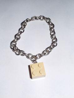 LEGO®++Armband++mit+beigen+Legostein+unisex+von+Monellabella+auf+DaWanda.com