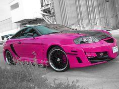 Pink Cars: Pink Hyundai Tiburon - Awesome Girly Cars & Girly Stuff!