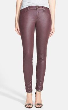 7 For All Mankind® 'The Skinny' Faux Leather Skinny Pants