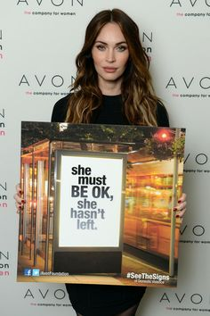 Megan Fox helped the Avon Foundation launch its new global Facebook campaign, #SeeTheSigns of Domestic Violence, on November 25, the International Day for the Elimination of Violence Against Women.3