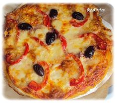 pizza olives et boursin  http://www.babakitchen.be/article-pizza-au-boursin-104092566.html