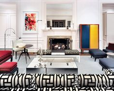 Mondrian Inspired Interiors