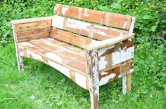 how to make a garden bench from reclaimed lumber   recycled wood garden bench