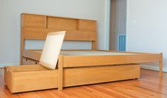 Platform Storage Beds-Order Your Custom Platform Storage Bed from .FinnwoodDesigns.com  sc 1 st  Pinterest & Finnwood Designs is the place for your Custom Platform Bed Bookcase ...