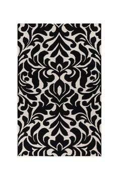 Candice Olson :Market Place Wool Rug - Black Olive