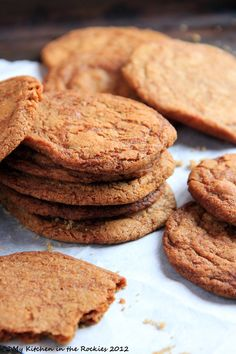 Brown Sugar Cookies with Ginger  by Kirsten | My Kitchen in the Rockies