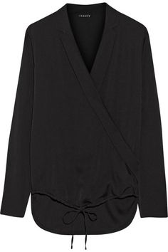 Theory Ilori silk crepe de chine blouse