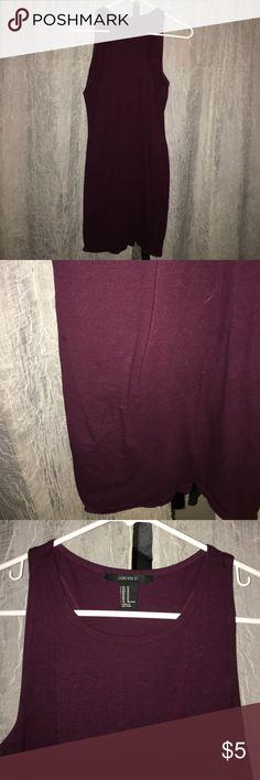 Basic mini dress Maroon basic mini dress --- perfect to layer --- tight fit Forever 21 Dresses Mini