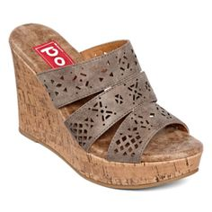 80% OFF!  Was $65, Now $13!  Pop Idol Laser-Cut Wedge Sandals  6.5-11  Get A Pair: http://shopstyle.it/l/bnms