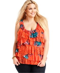 tops and tees roamans women's plus size pleat neck trapeze max