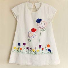 Baby Dress Design, Baby Girl Dress Patterns, Kids Frocks Design, Baby Frocks Designs, Embroidery On Clothes, Embroidered Clothes, Kids Dress Wear, Little Girl Dresses, Girls Fashion Clothes