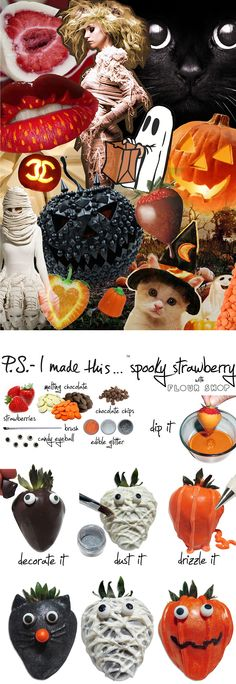 P.S.-I made this...Spooky Strawberry with flour shop #PSIMADETHIS #DIY