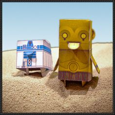 Boxpunx - R2-D2 and C-3PO Cube Crafts Free Papertoys Download - http://www.papercraftsquare.com/boxpunx-r2-d2-c-3po-cube-crafts-free-papertoys-download.html