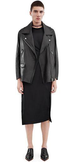 Acne Studios Swift Black Wide leather jacket