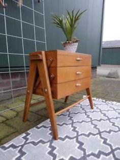 Deens design naaikastje retro Vintage kastje tafeltje 50 60