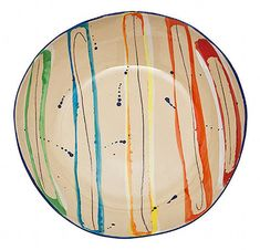 lovely colorful drip plate | Splashy Dishware