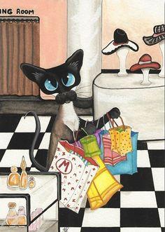"""""""Siamese Shopping Spree"""" par Amy Lyn Bihrl"""
