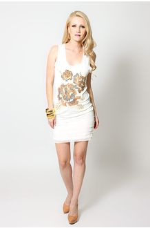 Vestido Bordado Flor Armazém no Brandsclub