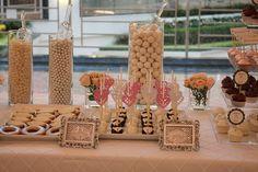 bridal themed dessert table