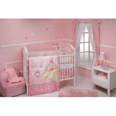 Disney princess nursery on pinterest crib sets disney princess