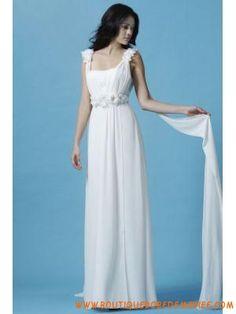 Robe de mariée mousseline 2013 avec fleurs perlés
