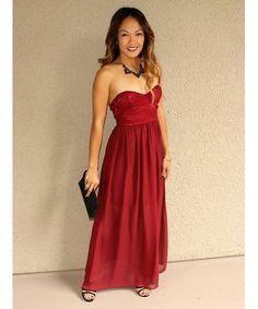 ae02da02df2  Talk of the Town  Lace Bodice Maxi Dress