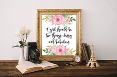 Coco Chanel Quotes, A Girl Should Be Two Things, Coco Chanel Decor, Coco Chanel Wall Art, Chanel Print, Fashion Quotes, Coco Chanel, Chanel by boutiqueprintart on Etsy