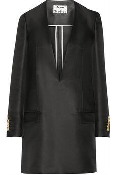 Acne Studios|Ryde T silk-blend mini dress|NET-A-PORTER.COM