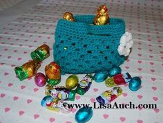Easter crochet  Crochet Easter baskets for kids